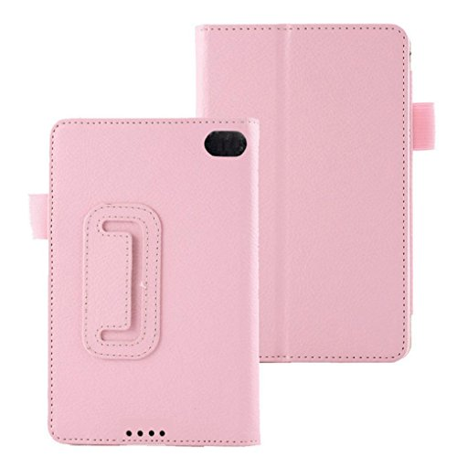 Price comparison product image For Kindle Fire HD 6, AMA(TM) New Leather Folio Stand Case Protective Cover for Amazon Kindle Fire HD 6 Tablet (Pink)