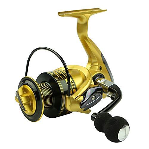 Fishing Reels 13+1Bb 5.5:1 Full Metal for Fish Feeder Reel Spinning Reels for Rod,Gold,14,4000 Series