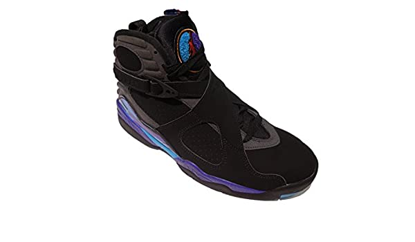 15527962baa2a5 Amazon.com  Size 5.5Y Air Jordan Retro 8 (GS) Black Purple Aqua 305368 041   Shoes