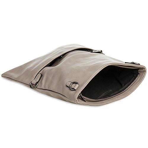 TA392 Evening Clutch with Envelope Bag Nude CASPAR Zip Elegant Ladies HxqfFUF
