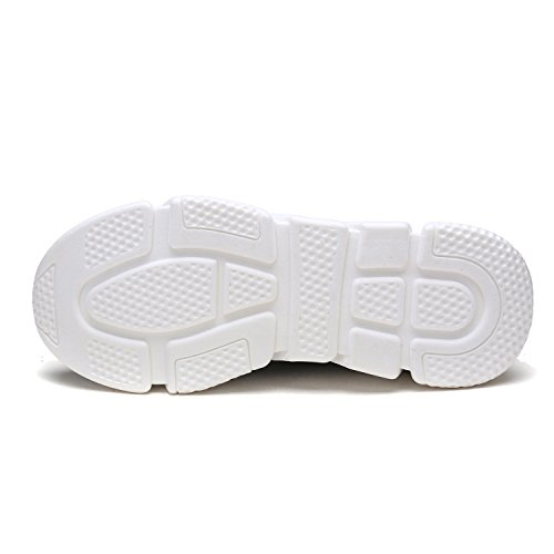 Dröm Par Mens 170844m Lätt Andas Mode Sneakers Sport Promenadskor 170.845-white