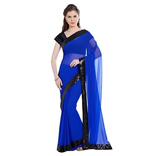 Royal Blue Saree - 7