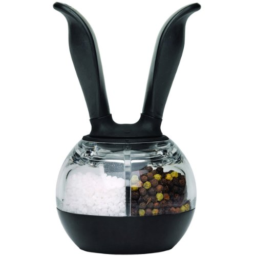 Chef'n Dual PepperBall (Black and Clear) (Chefn Dual Grinder)