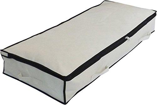 Neusu Strong Slimline Underbed Storage Bag (Medium 70 Liters, Beige)