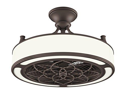 Vintere 20-in Aged Bronze Indoor//Outdoor Ceiling Fan Light Kit Remote 3-Blade