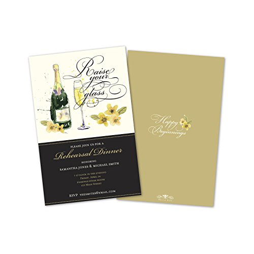 Champagne Toast Rehearsal Dinner Invitations (Set of ()