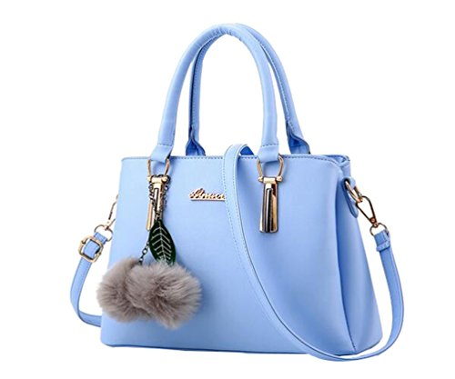 Blue YAANCUN Crossbody Tote Leather Shoulder Tote Bags Women For Bags Handbag Travel Handbags PU OSaxqOH