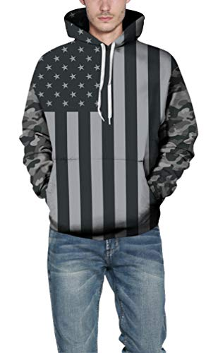 À Galaxie Ocean Drapeau Plus Capuche Sweat Unique Camouflage Usa Halloween Fantaisie Chandail 3d Sweats Cosplay Hommes PPgfwxFqnt