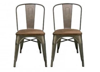 btexpert industrial metal vintage tabouret antique copper bronze rustic distressed dining bistro cafe stackable side chair - Tabouret Metal Vintage