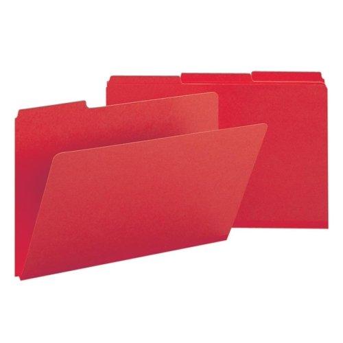 Wholesale CASE of 5 - Smead 1/3 Cut Colored Pressboard Tab Folders-Folder, 1/3 AST Tab Cut, 9-12/