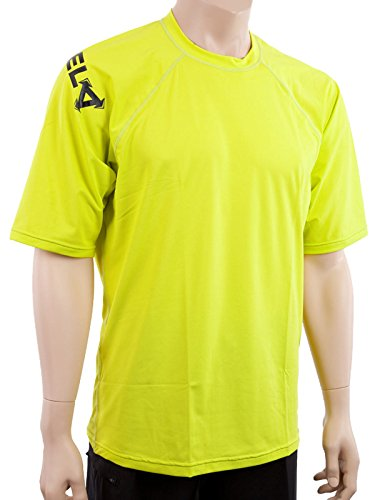 XCel Mens Big and Tall Shortsleeve Ventx Sun & Swim Shirt 3XL Safety yellow (4253S)