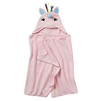 c6823f4c724c7 Amazon.com   Jumping Beans Unicorn Hooded Bath Towel   Hooded Baby Bath  Towels   Baby