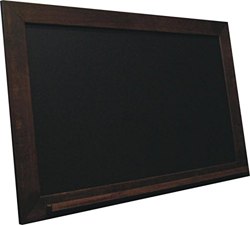 billyBoards 36X72 chalkboard. Vintage java frame finish. School style. With chalk tray. Black porcelain writing panel. 2.5'' wood frame. by billyBoards