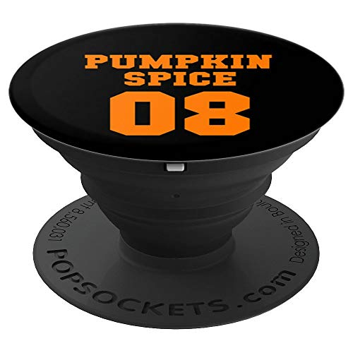 Team Pumpkin Spice 08 Season, Autumn, Fall Cute Gift - PopSockets Grip and Stand for Phones and Tablets ()