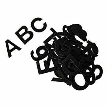 Felt alphabet stickers 2 thick 81 pcs