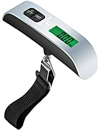 Digital Luggage Scale w/LCD Backlight Portable Best for Travel (Silver)