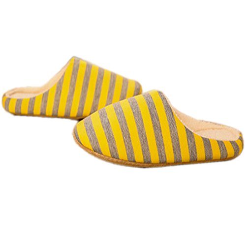 Women Indoor Cotton Yellow Men Slippers Slippers Winter 4T5Wdqw