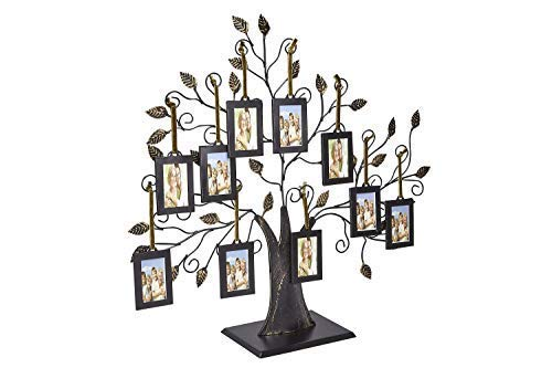 Klikel Family Tree Picture Frame Display with 10 Hanging Picture Photo Frames | Large 20 x 18 Metal Tree | 10 Ornamental 2x3 Frames by Klikel (Image #3)