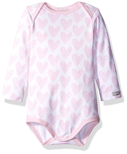 Hearts Jersey Knit Cotton Modal Romper, Pink, 9 Months ()