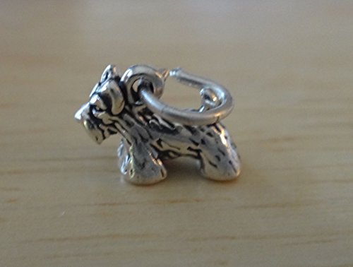 (Sterling Silver 3D Tiny 8x11mm Cairn Scottie Scottish Terrier Dog Charm Jewelry Making Supply, Pendant, Sterling Charm, Bracelet, Beads, DIY Crafting and Other by Wholesale Charms)