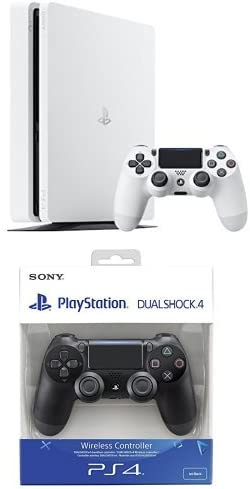 PlayStation 4 Slim (PS4) - Consola de 500 GB, Color Blanco + DualShock 4 Negro V2 adicional: Amazon.es: Videojuegos