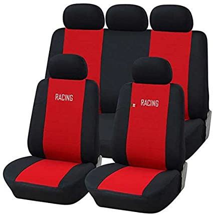 Amazon.es: Fundas para asientos de coche liners rojo-negro ...