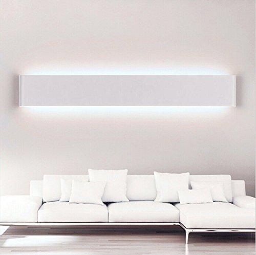 Goodia white shell led modern 14w acrylic led for Living room uplighting
