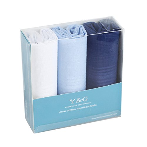 YEA0106 Blue White Solid Cotton Easter Sunday Gift 3 Pack Handkercheifs Set Beautiful Shopstyle By Y&G