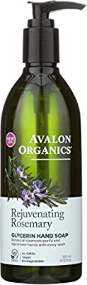 Avalon Organics Glycerin Hand Soap Rejuvenating Rosemary, 12 oz