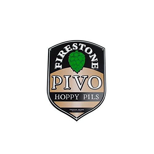 Firestone Walker Brewing Company Pivo Pilsner - Mini Metal Tacker/Bar Sign (Best India Pale Ales)