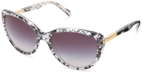 D&G Dolce & Gabbana 0DG4175 Cat Eye Sunglasses,Black Lace,57 - Glasses D&g Cat Eye