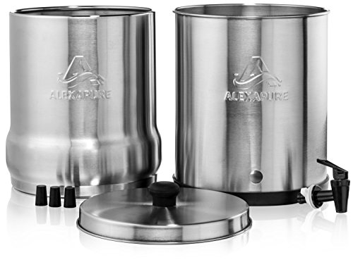 Alexapure Pro Stainless Steel Water Filtration System 5,000 Gallon Throughput Capacity