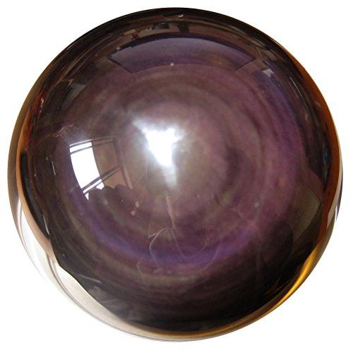 (Satin Crystals Obsidian Rainbow Ball 2.5