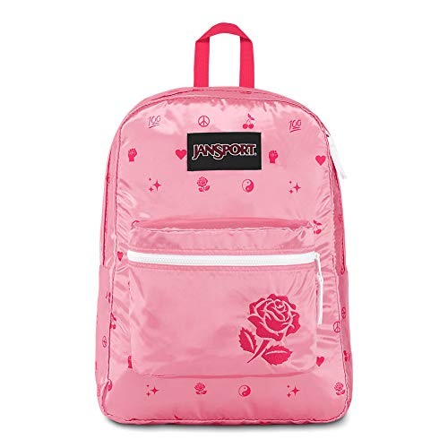 JanSport Super FX Backpack - Trendy School Pack With A Unique Textured Surface | Girl Power