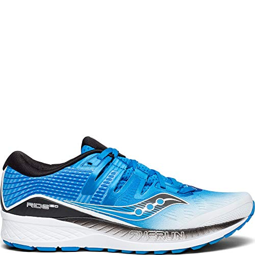 Saucony Ride ISO Wide Men 12 White | Black | Blue ()
