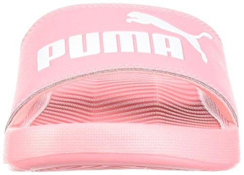 Puma Damessnackcat Wns Glijssandaal Soft Fluo Peach-puma Wit