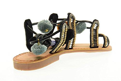 GIOSEPPO flip flop zapatos de las mujeres de esclavos 40660-02 NAYELI talla 41 NEGRO