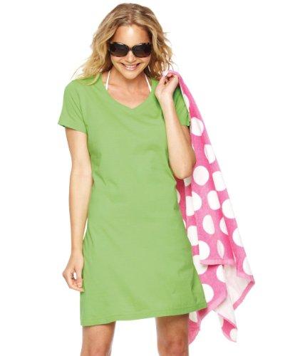 LAT Sportswear Women's Fashionable V-Neck T-Shirt Dress. 3522