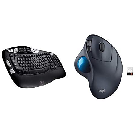 12656901e0e Long Battery Life Logitech MK550 Wireless Wave Keyboard and Mouse Combo —  Includes Keyboard and Mouse Ergonomic ...