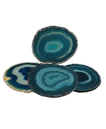 Agate Coaster Teal 3-3.5