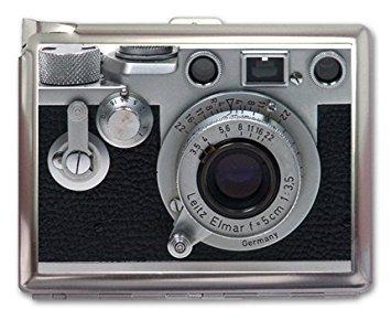 - Vintage Retro Camera Cigarette Case Lighter or Wallet Business Card Holder