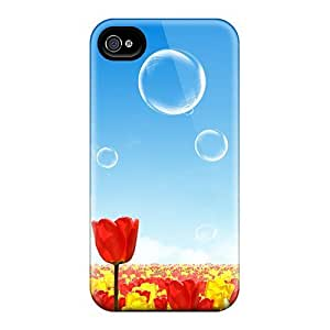 BXs2838ezNw Case Cover, Fashionable Iphone 4/4s Case - Fantasy World Of Flowers