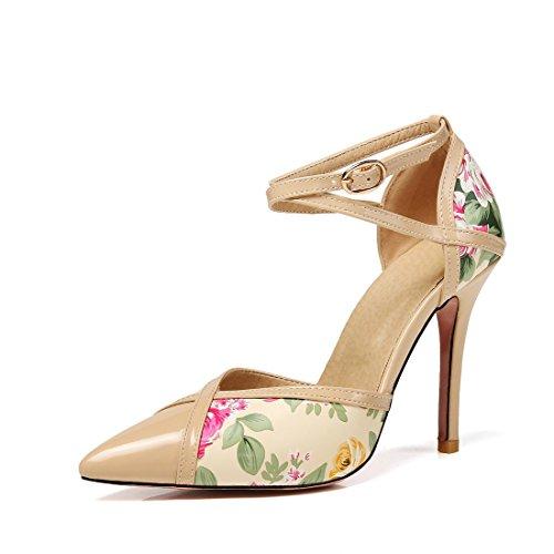 sandali a i signore tacchi dei fibbie e 45 sexy albicocca tacchi sandali alti spillo sandali sandali colore TYgw8qY