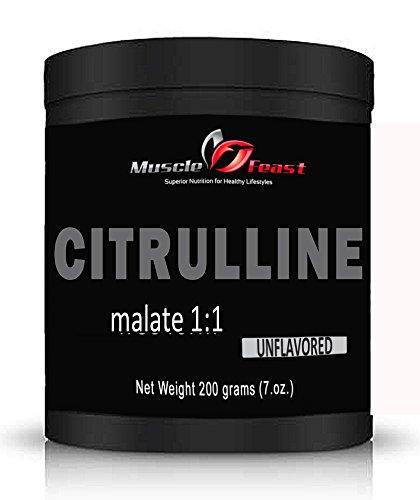 Malate de Citrulline pur 1:1 de Muscle de fête (200 grammes)