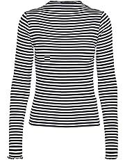Vero Moda VMVIO L/S HIGH NECK STRIP BLOUSE NOOS Dames Shirt met lange