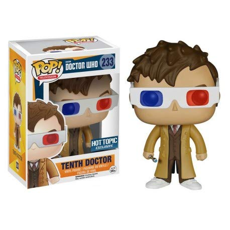 Funko Pop Television: Tenth Doctor with 3D Glasses Collectible Figure, Multicolor