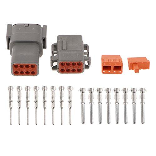 Homyl 1 Set Car Truck 8Pin Way Sealed Waterproof Wire Connector Plug Terminal Kit: