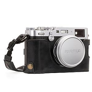 MegaGear Ever Ready Genuine Leather Camera Half Case and Strap Compatible with Fujifilm X100F