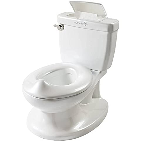 Summer Infant My Size Potty features Flush and Sound with Removable Bowl (Hippo Tales Potty)
