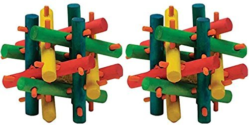 Kaytee Nut Knot Nibbler Mini Chew Toy for Hamsters (2 Pack)